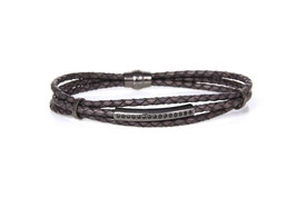 Luca Lorenzini Armband 21 cm, grey, Hominis Collection