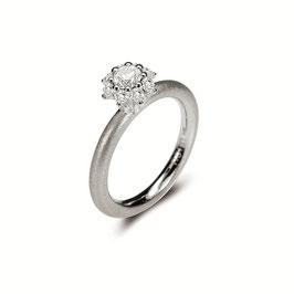 Noen Ring Weissgold mit Diamanten