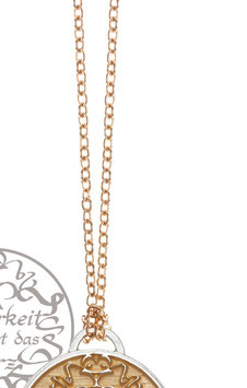Kerstin Henke Collierkette 750/- Rosegold, Anker weit kordiert