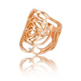 Noen Ring aus der Serie 'rose' 925 rosevergoldet mit Brillanten