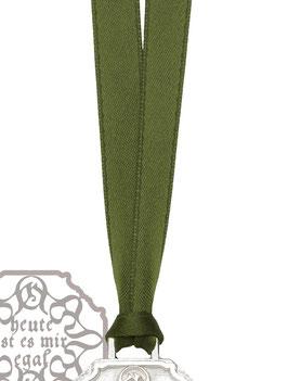 Satinband mit S- Schließe aus rhodiniertem 925/- Silber