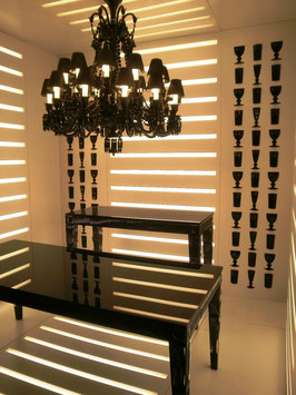 Baccarat Black supper console table Philippe Starck