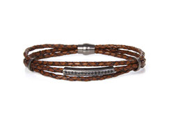 Luca Lorenzini Armband 21 cm, braun, Hominis Collection