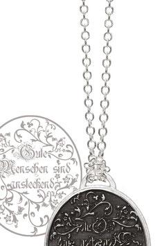 Silberkette aus rhodiniertem 925'er Silber