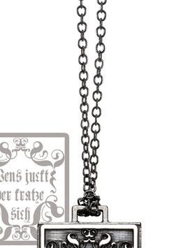 Kerstin Henke Collierkette 925 Silber, schwarzrhodiniert
