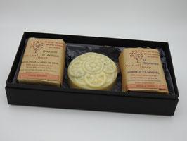 Coffret de trois savons - forme mandala