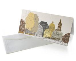 "Grußkarte ""Aachen"", pastell"