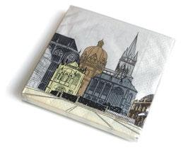 """Servietten """"Aachener Dom"""" pastell"""