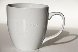 """Becher """"Aachener Printe"""" graviert, weiß"""