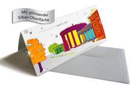 """Weihnachtskarte """"Elisenbrunnen"""" silber"""