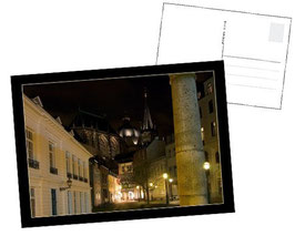 "Postkarte ""Aachener Dom by Night"""
