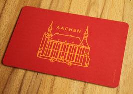 Frühstücksbrettchen, AC Symbol Rathaus, rot