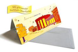 """Weihnachtskarte """"Elisenbrunnen"""" orange"""