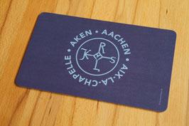 Frühstücksbrettchen, AC Symbol Karlssiegel, blau