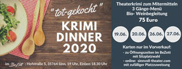 """""""tot-gekocht""""- Krimdinner am 27.06.2020"""