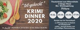 """""""tot-gekocht""""- Krimdinner am 26.06.2020"""