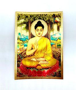 Postal Budha - detalles dorados