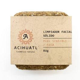 Limpiador Facial Sólido Acihuatl - PIEL SENSIBLE / SECA