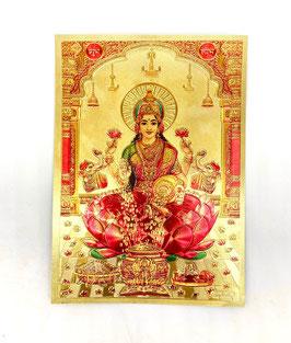 Postal Lakshmi - detalles dorados