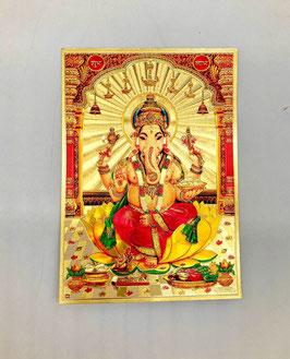 Postal Ganesha - detalles dorados