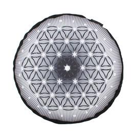 Zafu Mandala - FLOR DE LA VIDA NEGRO