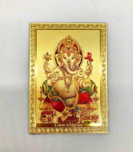 Imán Ganesha - detalles dorados