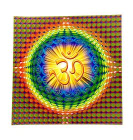 OM cromo tridimensional plástico