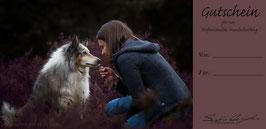 Wertgutschein - Hundeshooting - Desing 02