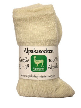 Alpaka-Bettsocken (Naturweiß)