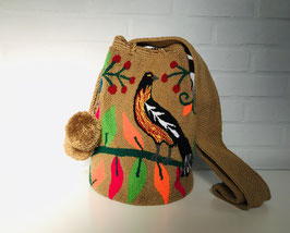 PARADISE Mochila tas handgemaakt door Colombiaanse Wayuu vrouwen