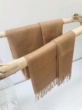 Alpaca sjaal - 70% Baby Alpaca, 30% Zijde - Lichtbruin