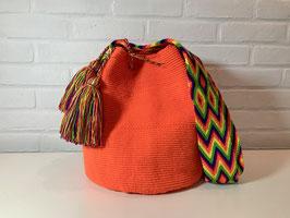 MANDARINA Mochila tas handgemaakt door Colombiaanse Wayuu vrouwen