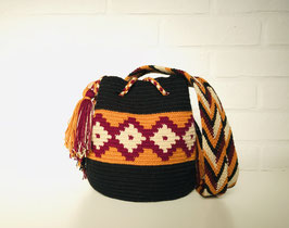 SANDRA Small Mochila bag handcrafted by Colombian Wayuu women