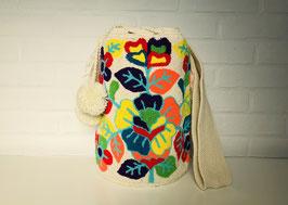 FLORELIA Mochila tas handgemaakt door Colombiaanse Wayuu vrouwen