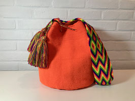MANDARINA Mochila bag handcrafted by Colombian Wayuu women