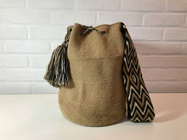 OKRA Mochila bag handcrafted by Colombian Wayuu women