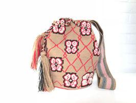 FLORA Mochila tas handgemaakt door Colombiaanse Wayuu vrouwen