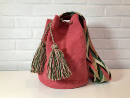 MARIE ROSE Mochila bag handcrafted by Colombian Wayuu women