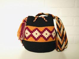 SANDRA Kleine Mochila tas handgemaakt door Colombiaanse Wayuu vrouwen