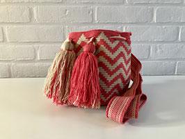 ALEXA Kleine Mochila tas handgemaakt door Colombiaanse Wayuu vrouwen