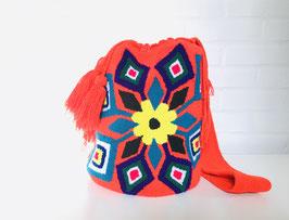 FLEUR Mochila tas handgemaakt door Colombiaanse Wayuu vrouwen