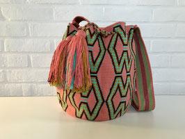 MARIA Mochila tas handgemaakt door Colombiaanse Wayuu vrouwen