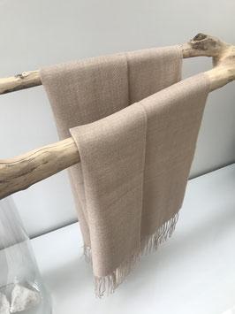 Alpaca sjaal - 70% Baby Alpaca, 30% Zijde - Beige