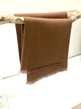 Alpaca scarf - 100% undyed, naturally pigmented Baby Alpaca - Brown