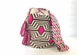 Rosy Mochila tas handgemaakt door Colombiaanse Wayuu vrouwen