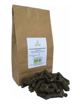 Bio Sonnenblumenpresskuchen (Pellets)