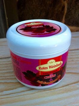 Rotes Weinlaub - mit Sanddornöl