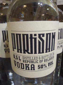 Partisan Vodka 50% in 0,5l