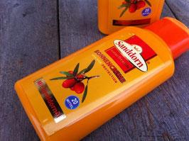 Sonnencreme mit Sanddornöl