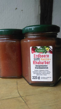 Erdbeere Vanille +Rhabarber - Fruchtaufstrich
